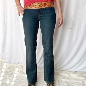 Billy Blues Leather Waistband Jeans